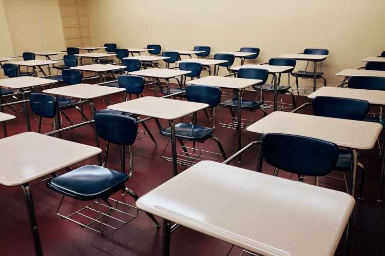 chairs classroom college desks